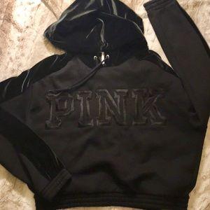 Victoria's Secret PINK Hoodie NWOT Black